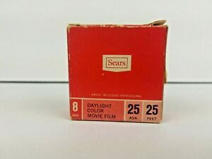 Vintage-Sears-8mm-Color-Movie-Film-Daylight-25-Feet-ASA-25-Expired-1971