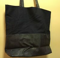 Saks 5th Ave Tote Bag Medium Size Navy Blue Gwp 12