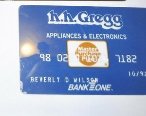 H H Gregg Indiana Advertising Expired Credit Card Appliance Store