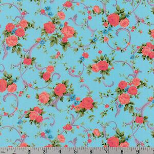Shabby-Rose-Sky-Blue-Cassandra-Robert-Kaufman-Cotton-Quilting-Fabric