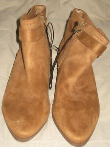 NEW Womens Caramel SHORT Suede Low Heel