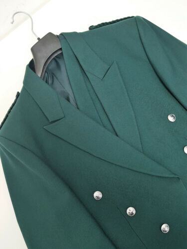 Ex Hire Green Prince Charlie Jacket /& Vest Saltire Buttons Scottish Made A1 cond