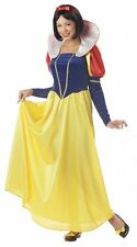 NEW Women's Snow White Costume Adult Small W/ Hair Ribbon By California Costumes