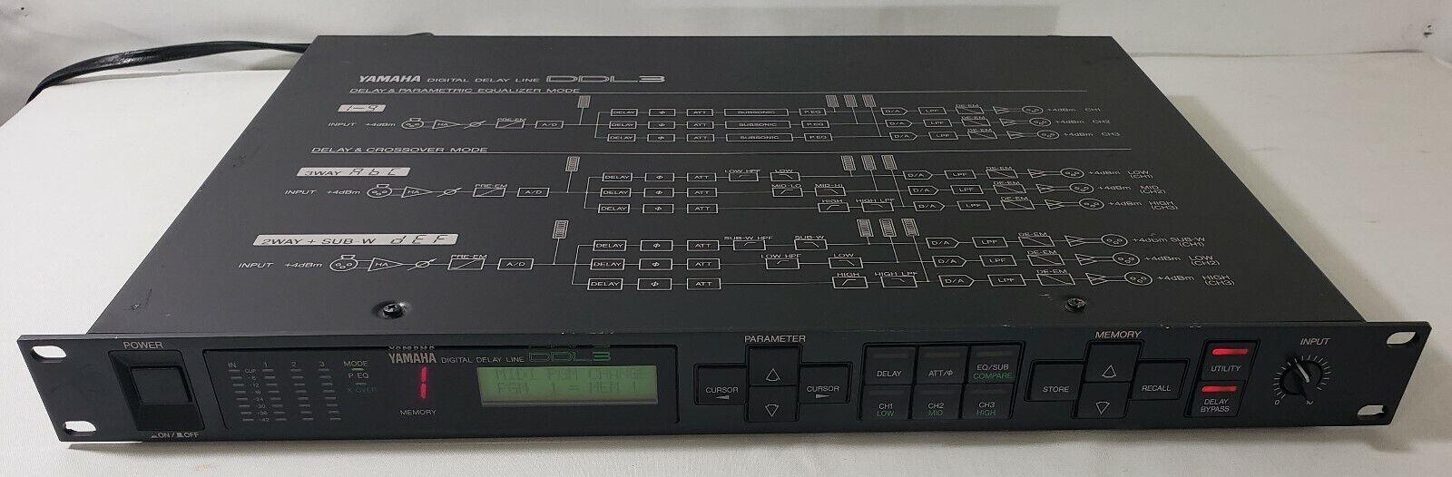 Yamaha DDL3 Digital Delay Line - Parametric Equalizer Crotver Mode