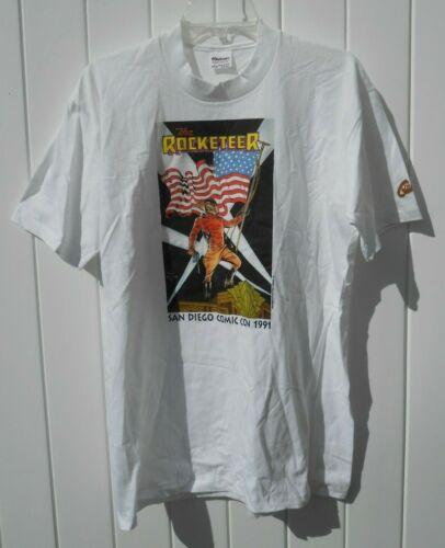 COMIC CON 1991 Vintage ROCKETEER T-Shirt Original
