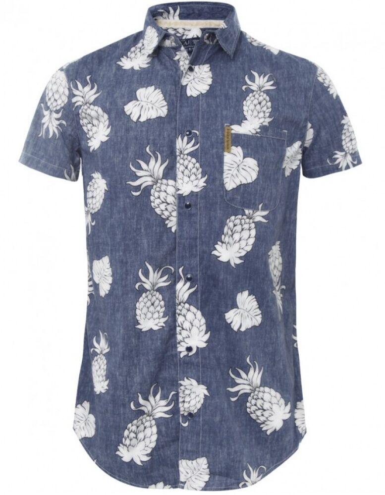 Armani Jeans bluee Multi Pattern print H S Shirt SZ  XXL & XXXL BNWT