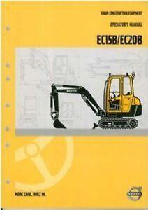 volvo excavator ec15b ec20b operators manual ebay rh ebay co uk Volvo Factory Service Manuals Volvo Shop Manual
