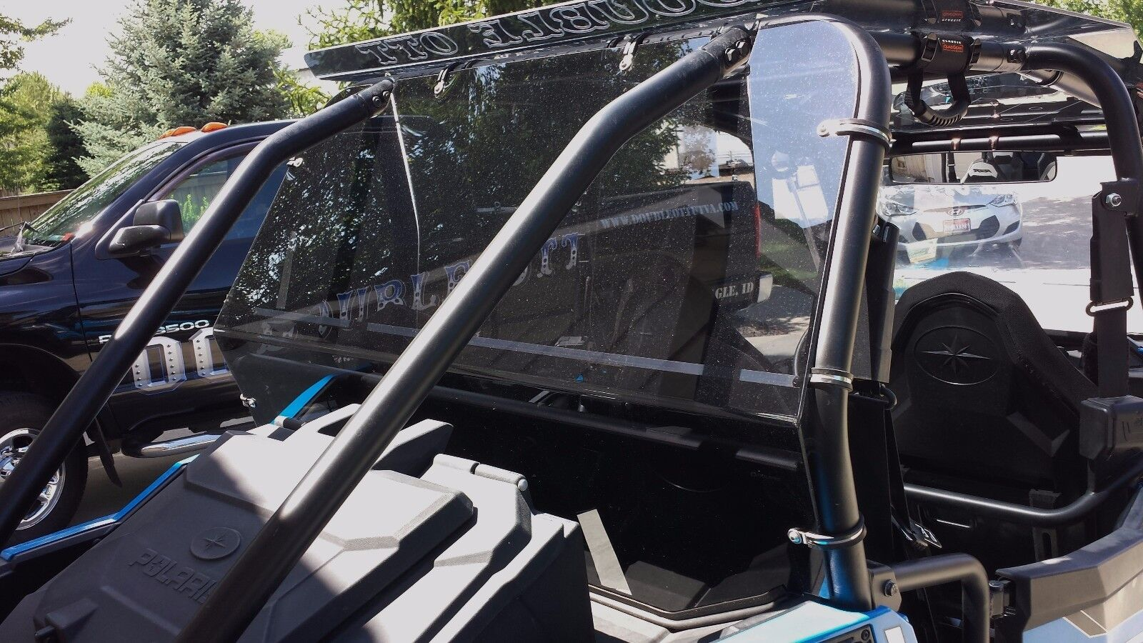 2002-2008 Polaris Ranger 500 700 Instant Rear Window Windshield Dust 78657