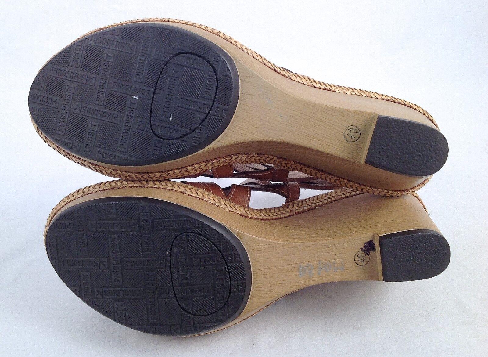 New   Pikolinos Leder Lazer Cutout Slingbacks Wedge Sandales- (P30) Größe 10 US  (P30) Sandales- 60ac36
