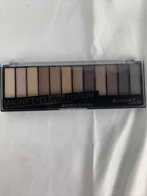 2 PK Rimmel MAGNIFEYES Eyeshadow Palette 001 NUDE Edition