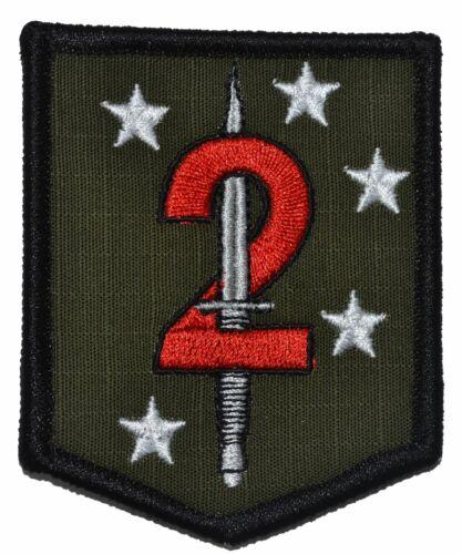 2d Marine Raider Battalion Patch Hook Backing MarSOC Shield USMC