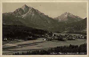 Igls-Osterreich-Tirol-AK-1930-Serles-Habicht-Alpen-Verlag-Ritzer-ungelaufen