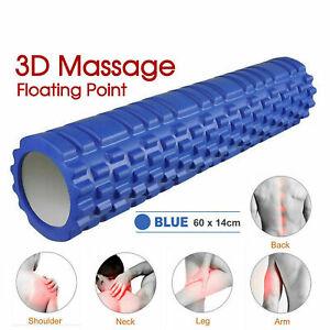 60CM-EVA-Foam-Yoga-Roller-Physio-Gym-Back-Training-Exercise-Massage