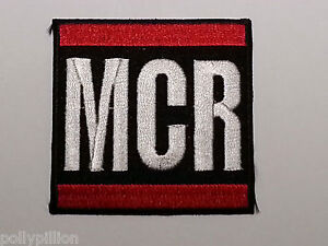 ROCK PUNK METAL MUSIC SEW / IRON ON PATCH:- MY CHEMICAL ROMANCE (b) MANCHESTER