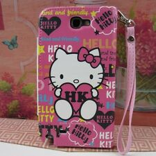 Hello Kitty #H Flip Wallet Leather Case Cover Pouch for Samsung Galaxy Note II 2