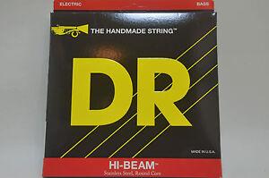 DR-BASS-Saiten-MR-45-Komplettsatz-4saitig-HI-BEAM-Stainlees-Steel-Round-Core