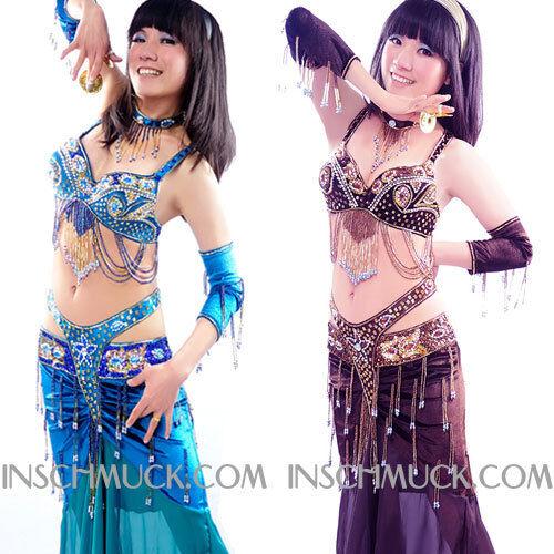 C91921 Danza Costume Danza C91921 Ventre 5 Parti REGGISENO Cintura Serpente Queen 5ec155