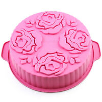 Flower Pattern Round Food-grade Silicone Bread Cake Mold Baking Pan 91.9 Inch
