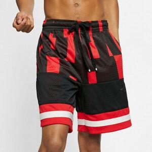 Dettagli su Nike Air Mesh Shorts Men's Basket palestra casual rossonero medio mostra il titolo originale