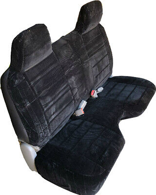 Brilliant Triple Stitched Thick Black Bench Seat Cover Large Notched Cushion Custom Fit Ebay Cjindustries Chair Design For Home Cjindustriesco