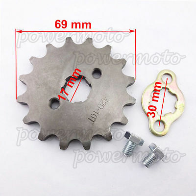 Chinese Pit Bike Engine Front Sprocket 420 17mm 17 Tooth 50 90 110 cc Dirt ATV