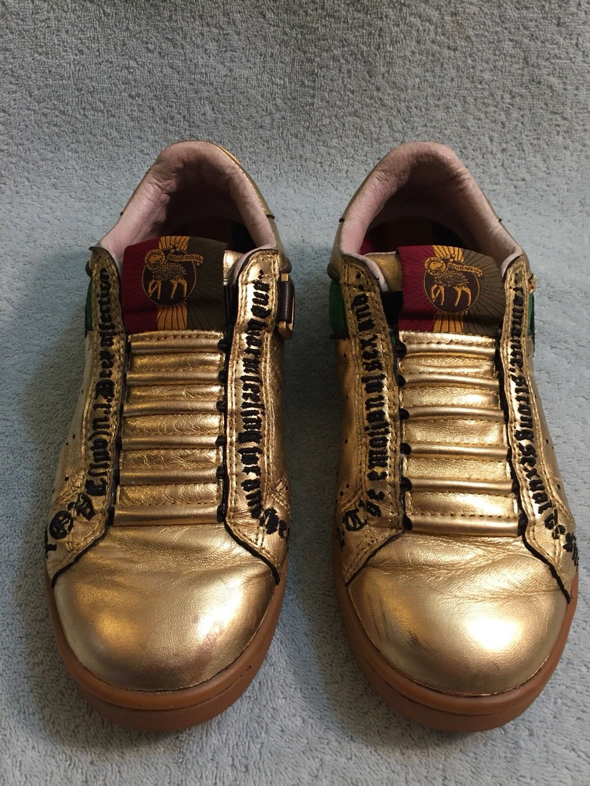 Gwen Stefani LAMB gold gold gold Leather Sneakers Size 8 M For Women e40505