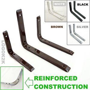 REINFORCED SHELF BRACKETS HEAVY DUTY SUPPORT METAL STEEL LONDON WALL   NEW