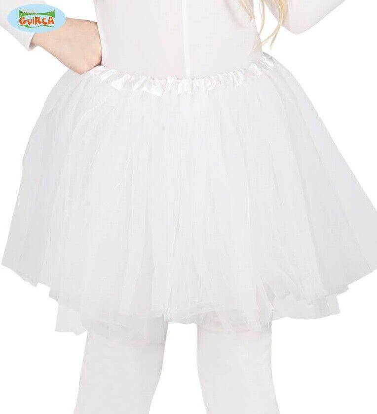 Childs Girls Fancy Dress Tutu White Childrens Tutu New fg