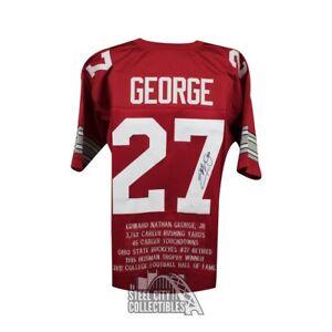 333b10dce Image is loading Eddie-George-Autographed-Ohio-State-Buckeyes-Custom-Stats-