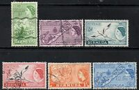(Ref-11161) Bermuda 1953 QEII Pictorials Various Used Values up to 1s.3d SG.145