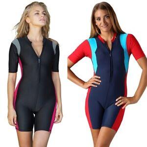 e6986f2e7a9 Image is loading Women-Boyleg-Swimsuit-Ladies-Boy-Shorts-Swimwear-One-