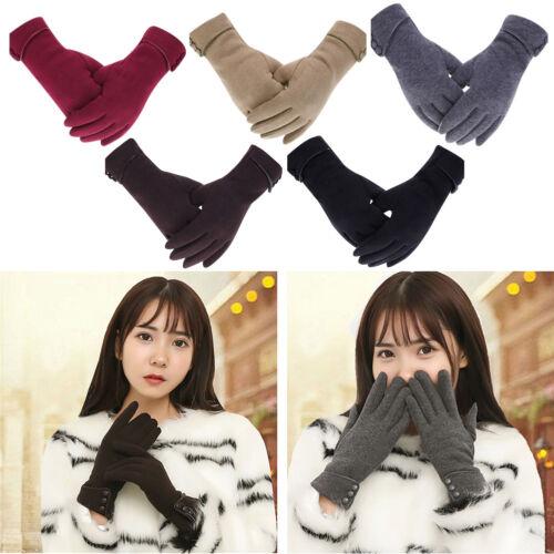 Women Warm Winter Fleece Lined Velvet Thermal Gloves Touch Screen Mittens 1 Pair