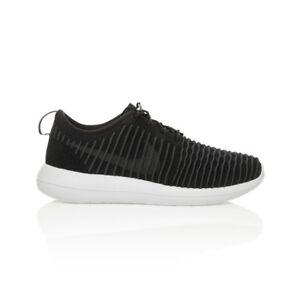 d23c864d76bc Nike Roshe Two Flyknit Men s shoe - Black White Wolf Grey Dark Grey ...