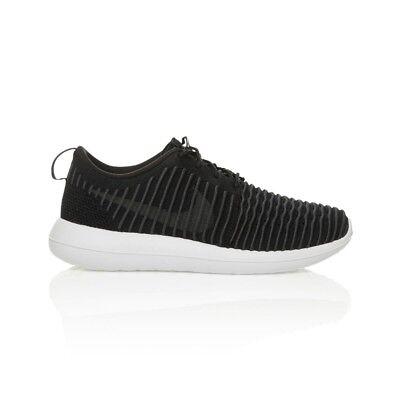 Nike Roshe Two Flyknit Men's shoe BlackWhiteWolf GreyDark Grey | eBay
