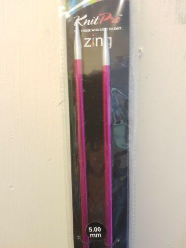 35 cm unique pointu Aiguilles à tricoter Aluminium KnitPro Zing 25 cm 30 cm