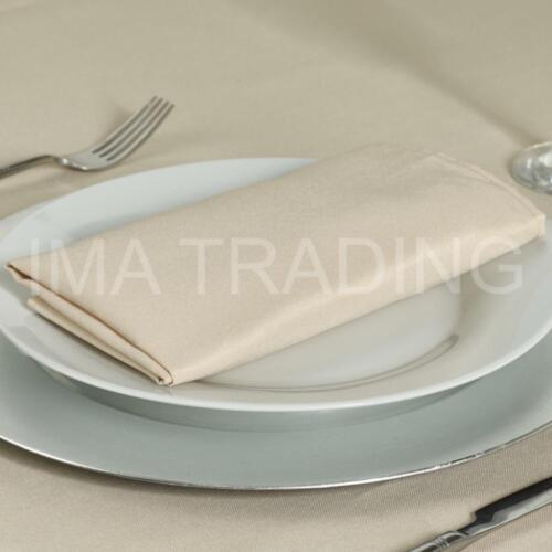 Beige Nappe 178 x 178 cm, 70 x 70 pouces, 220GSM Polyester Filé Table Cloth