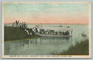 Celina-Ohio-Edgewater-Park-Grand-Reservoir-Full-Pleasure-Boat-Bathers-1922