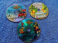 3X LOT DVD DISNEY Many Adventures Winnie the Pooh,TIGGER CHRISTMAS,SMALL WORLD