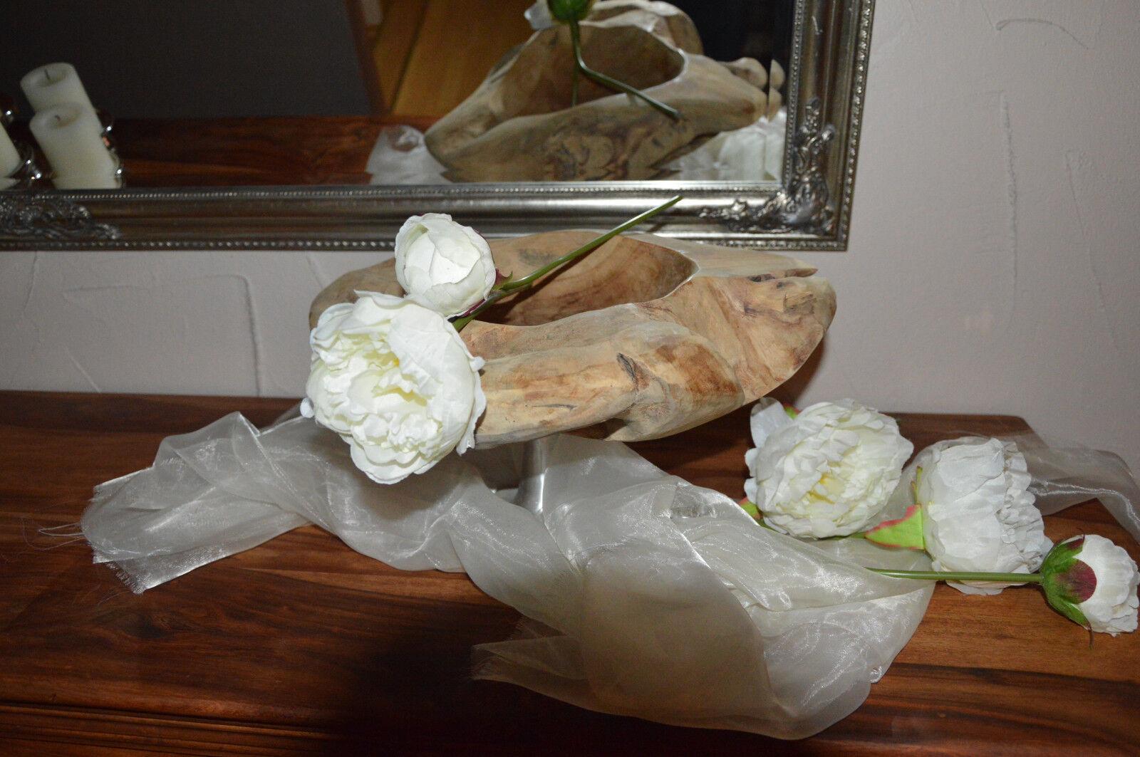 Teakholz Schale auf Ständer Deko Unikat  Wurzelholz  Drinnen&Draußen Drinnen&Draußen Drinnen&Draußen 40cm   Adoptieren  5925a1