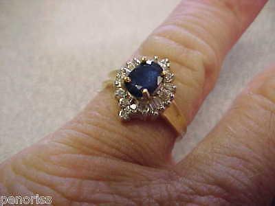Sapphire & Diamond  Ring 14k gold Size 6.25  Make Offer