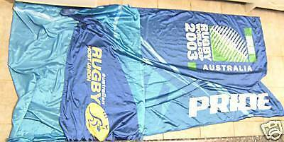 T10.  HUGE 2003 RUGBY UNION WORLD CUP STREET FLAG   PENNANT