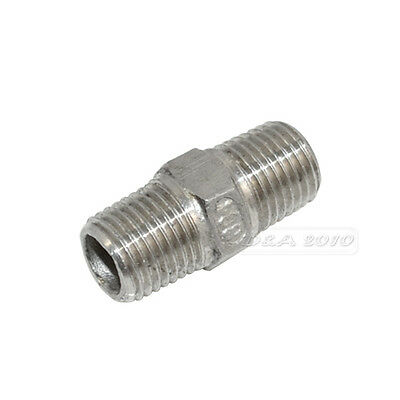 """1/8""""-2""""Male x  Male Hex Nipple Stainless Steel 304 Threaded Pipe Fitting BSP"""