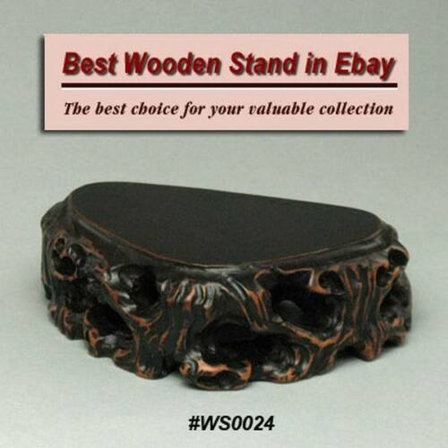 Hard Wood Stand For Netsuke /& Carving Display WS0024