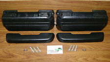 "Arm Rests Kit Black Pads Bases Bolts Screws *In Stock 11.5"" arm rest pad"