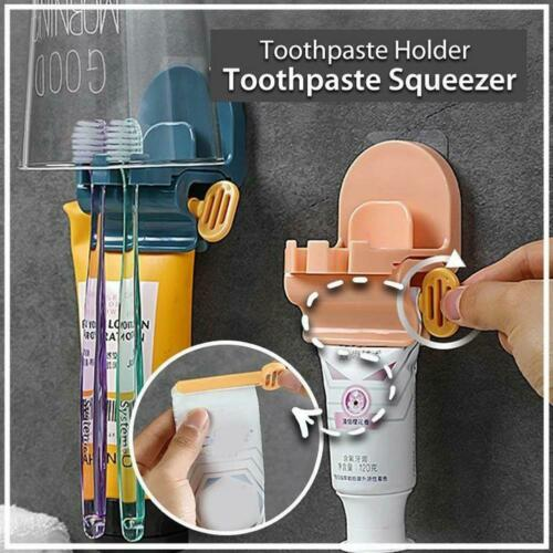 Wall Mounted Punch-free Manual Toothpaste Squeezer Home 1 pcs