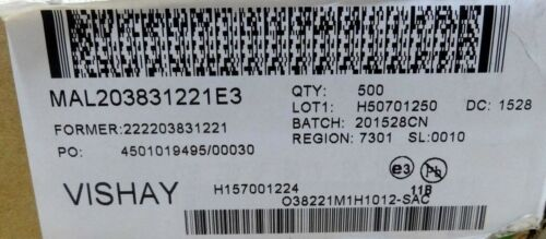 25 x Vishay mal203831221e3 220uf 50v capacitors