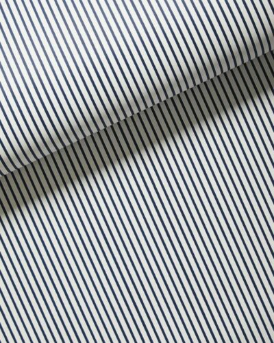 New $98 roll Nautical SERENA /& LILY Oxford Stripe Wallpaper Navy blue