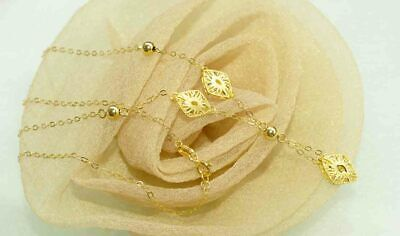 DemüTigen Elegantes Collier 750 Gelbgold Halskette Y - Kette 18 Kt Unikat Neu Filigran