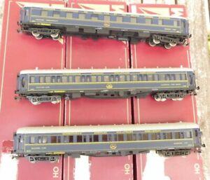 Tram-H0-Konvolut-3-Stueck-CIWL-Pullmanwagen-in-OVP-alle-Wagen-mit-Messingteilen