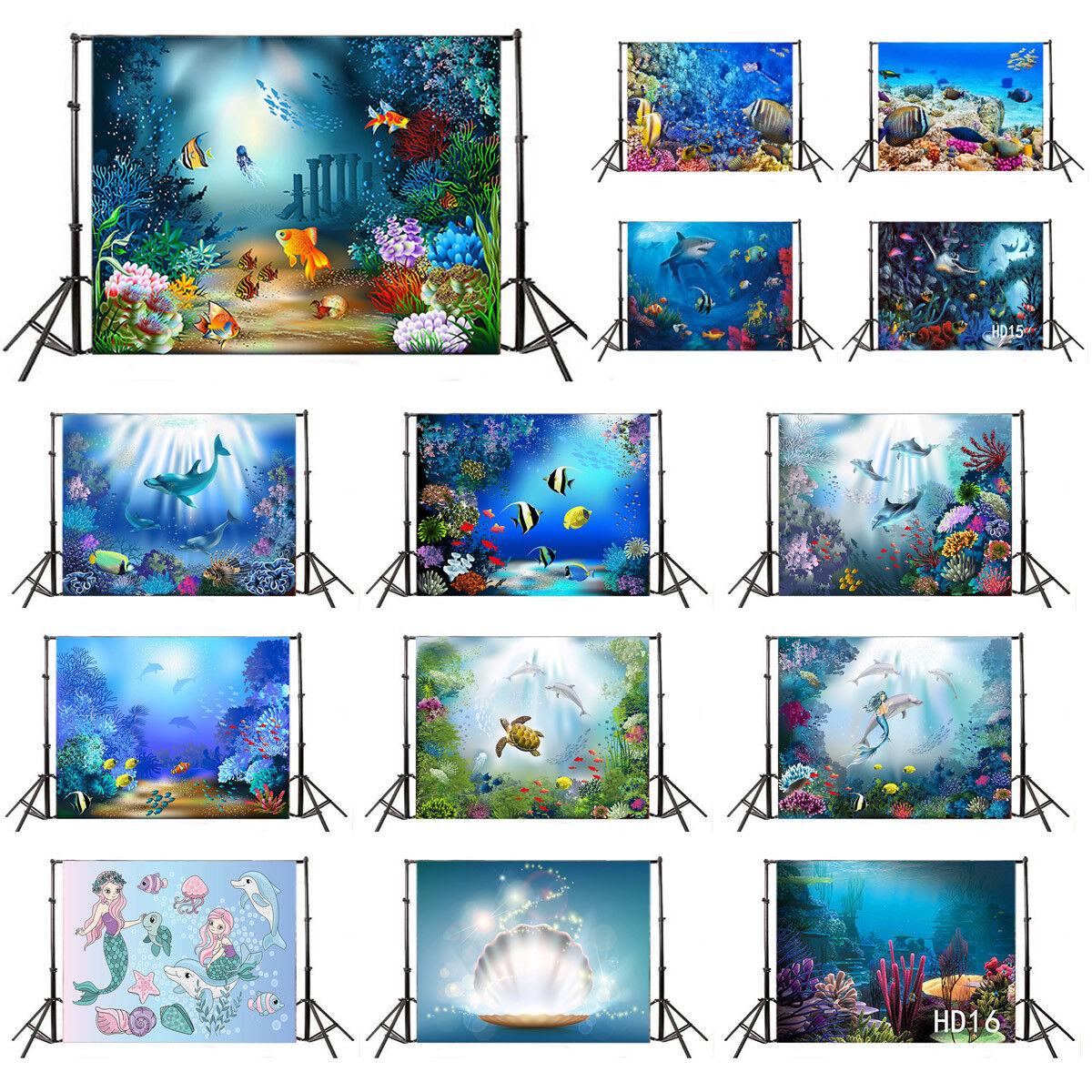 10x8ft Aquarium Background Undersea Dolphin Photography Backdrop Kids Photo Studio Props LHFU081